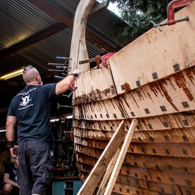 My Viking Ship... It is an eloquent metaphor for the dialogue on man's appropriate place in the biosphere. It fulfills all of humankind needs and does no harm. Our need for exploration, learning, traveling, creating, working with nature and not against it. It is a zero waste vessel to take us home; home to the best we can be. Home to our real relationship with this planet. It is a vessel to make us become more rather than have more.
